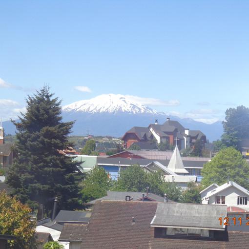 Vista do quarto: vulcão Calbuco