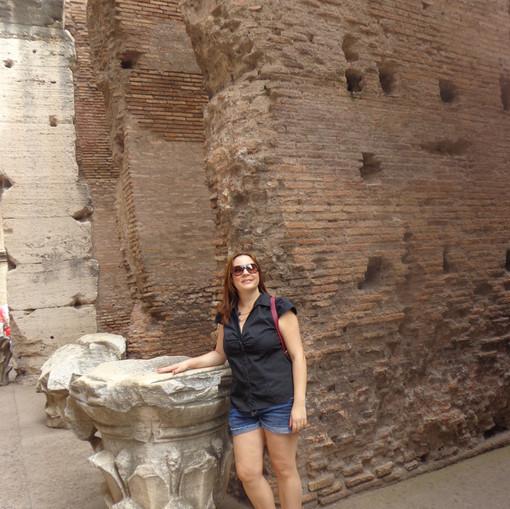 Colunas originais do Coliseu