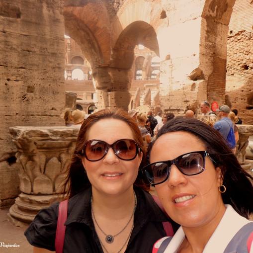 Arcos romanos no Coliseu