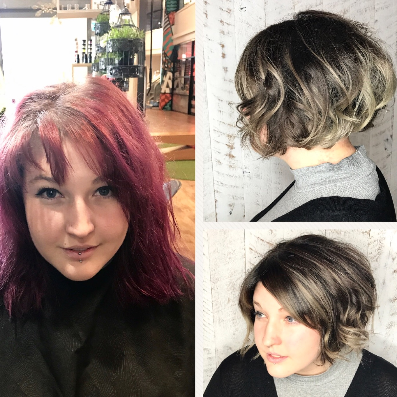 Siver/grey hair