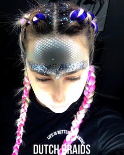Braids and glitter