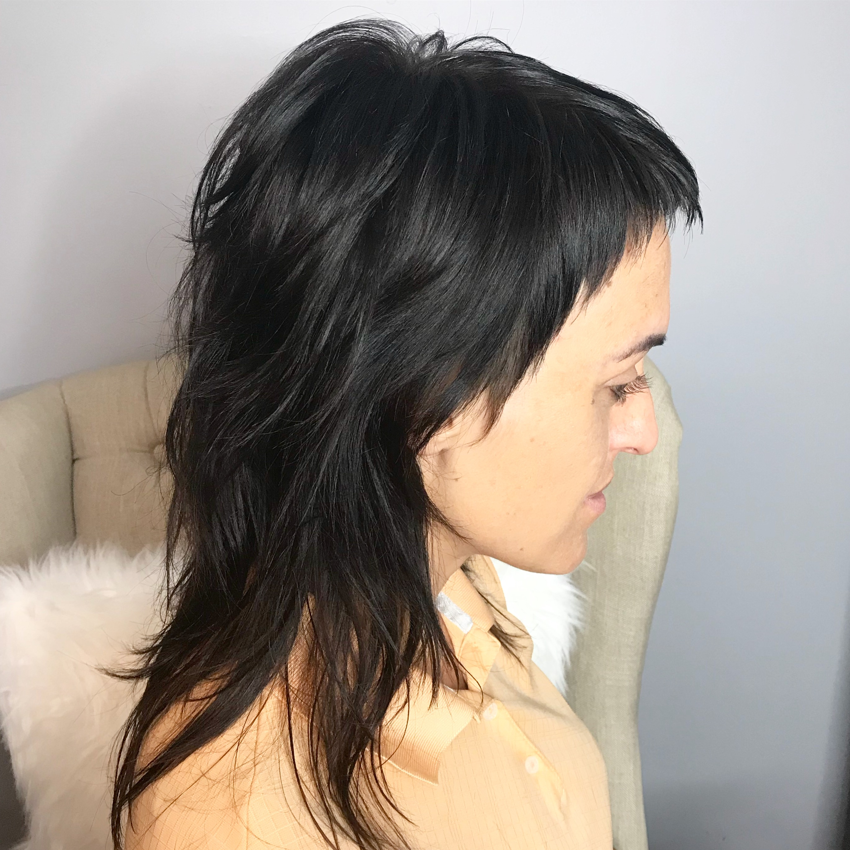 Modern Mullet style cut