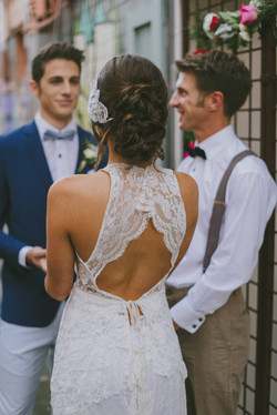 Bride and groom hair and makeup