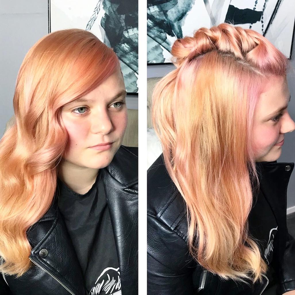 Apricot hair