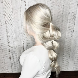 Icy Blonde & accentuated braid