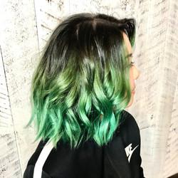 Emerald ballayage