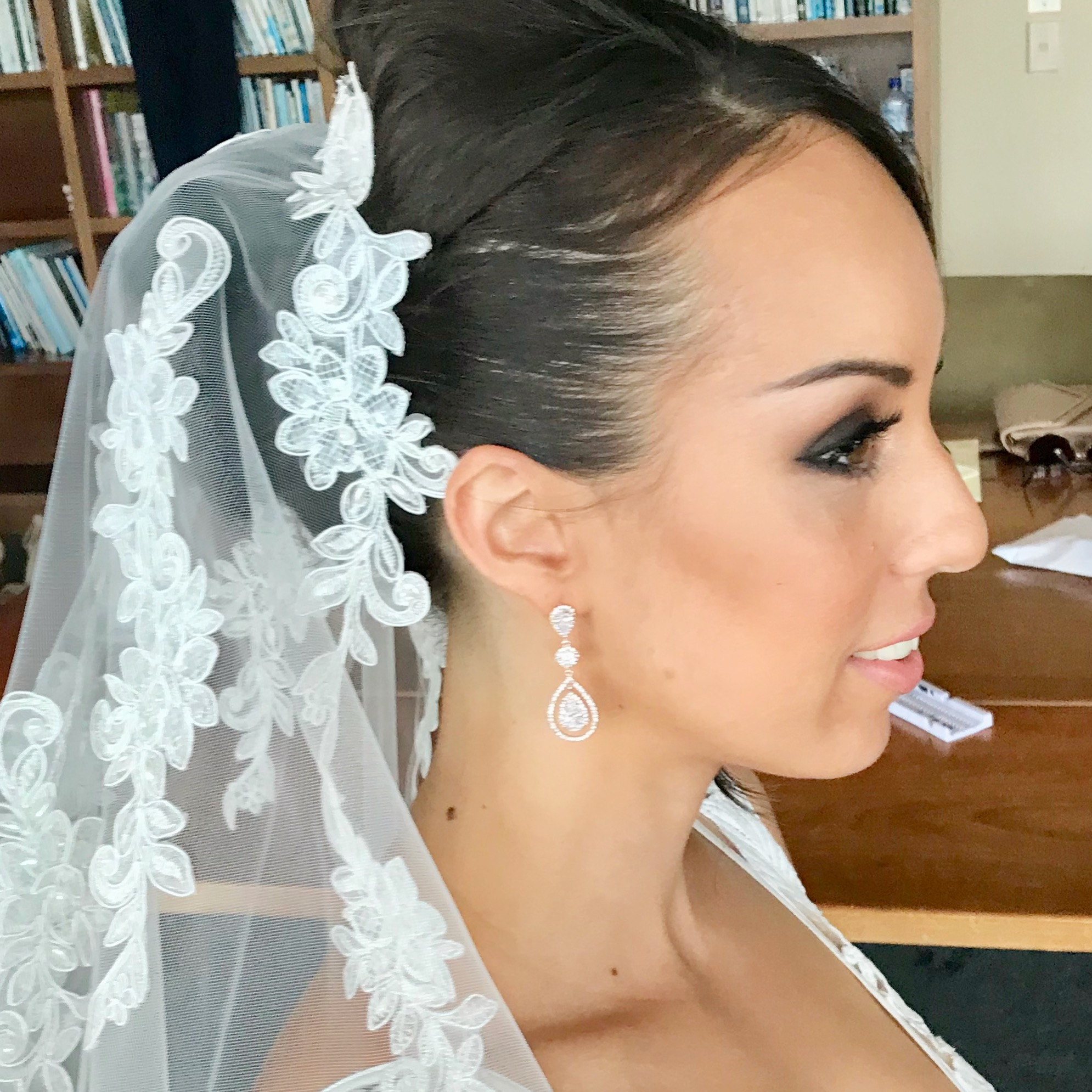 Bridal smokey eyes