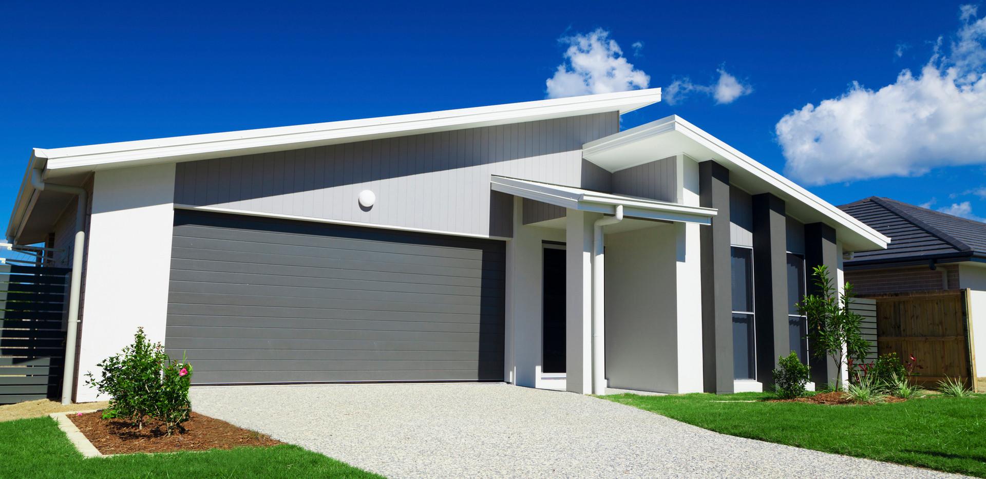 Garagem de casa moderna