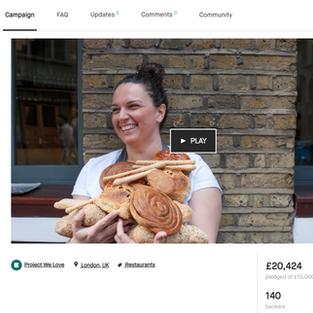 Kickstarter campaign Oklava Bakery + Wine (copy + pr)