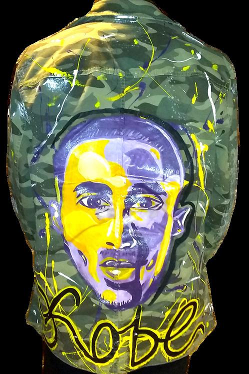 Kobe Bryant camo jacket: The Man, The Myth, The Legend