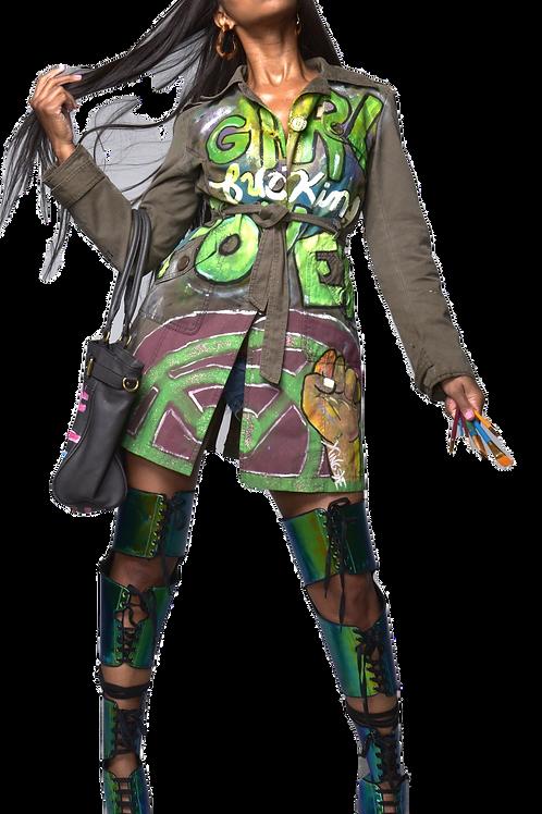 """""""Girl F*cking Power"""" jacket"""