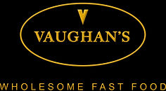Vaughan's Wholesome Fast Food, Vaughans_Logo_w_text_GOLD.jpg Redhill Fast Food, Pocket Wraps