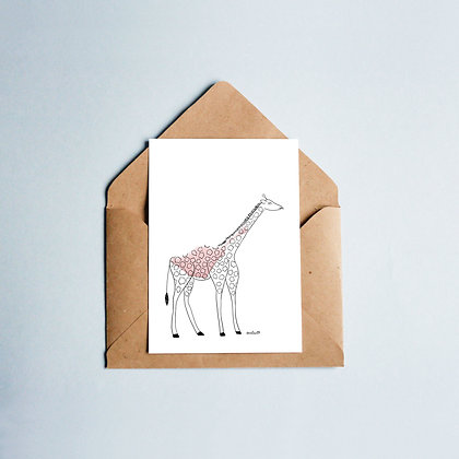"""Grußkarte """"Giraffe Elsa"""""""