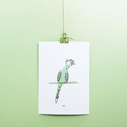 "Wandbild ""Papagei Luis"""