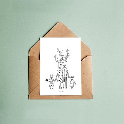 """Grußkarte """"DeerFamily"""""""