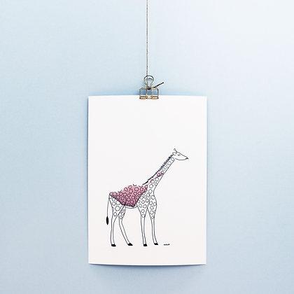 "Wandbild ""Giraffe Elsa"""