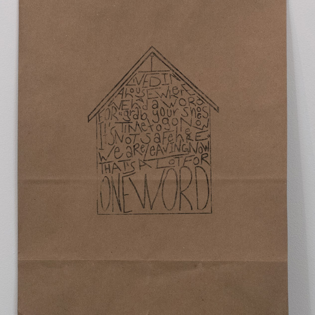 Untitled (a paper bag home)