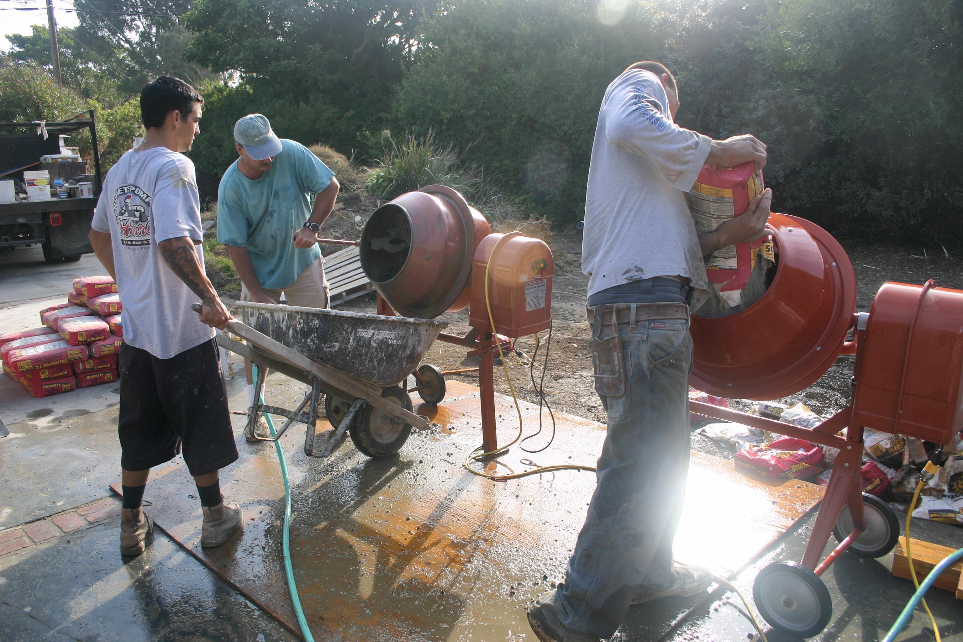 conc-tub mixing