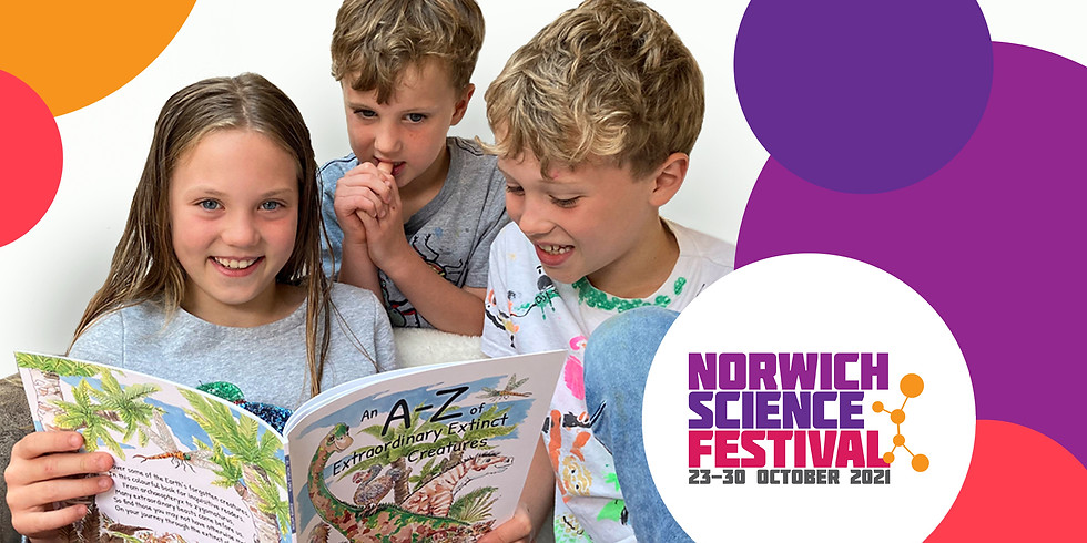 Dodo and Dinosaur at Norwich Science Festival