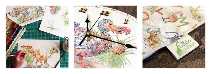 Dodo and Dinosaur bespoke design.jpg