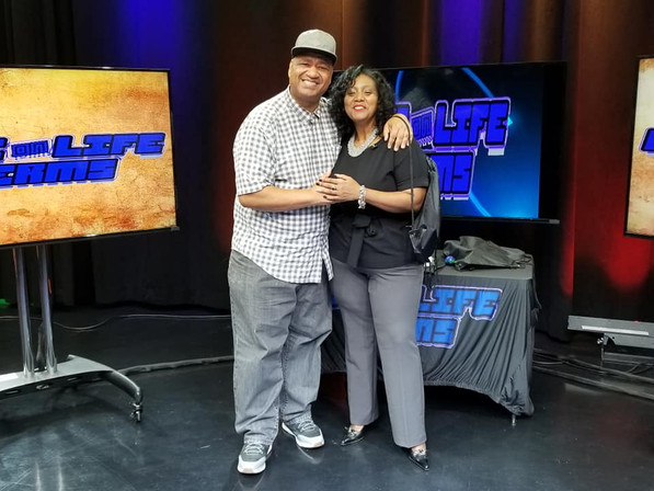 Guest Chuck with Host Adelyn