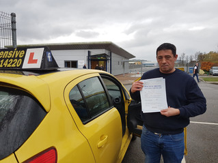 Well done Michael for passing your test.