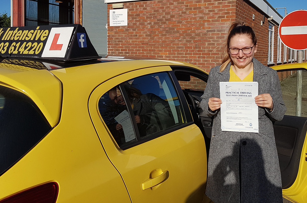 Izzi Passed first time.