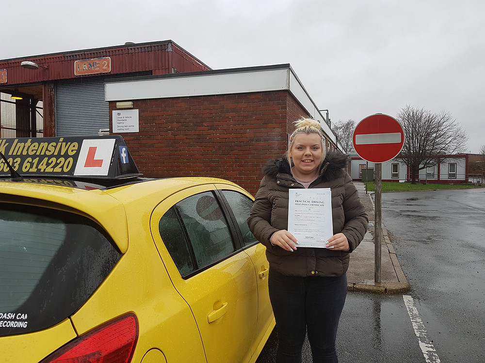 Keely Sayer passes 1st time