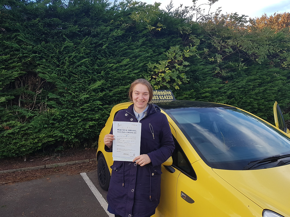 Well done Kendal on passing your test.