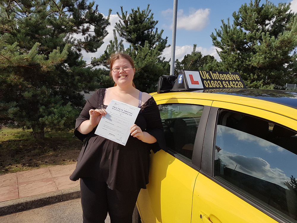 Josie Tisdale passed 1st time!