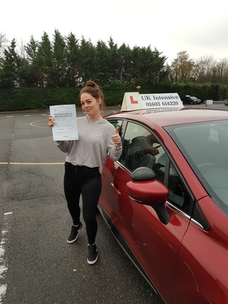 Ashleigh Passed Well Done.