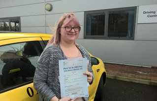 Georgina Sparks passed first time with us.