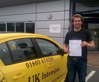 Conner Appleton passed 1st time with us.