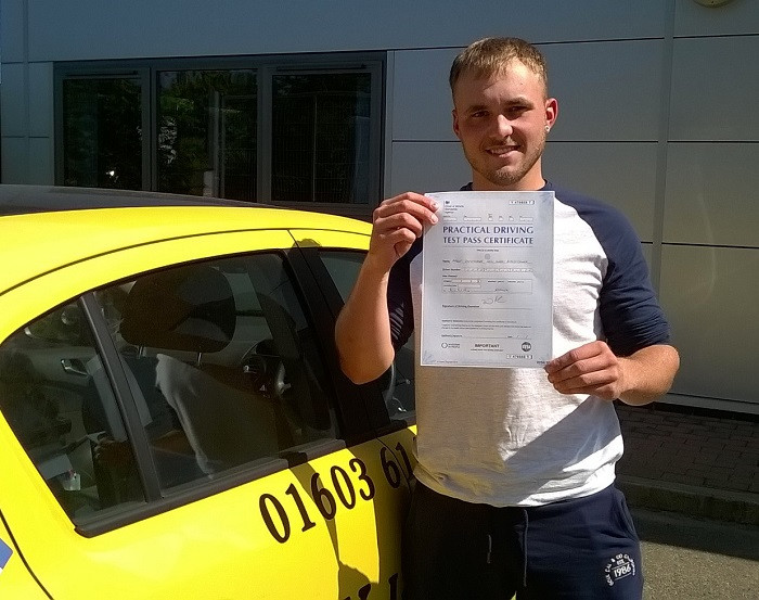 Aaron Blanchflower passed 1st time with us. #intensivedrivingcourses #drivingschool #drivinglessons #norwich #learntodrive #ukintensive