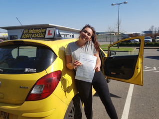 Sophie Spencer passes 1st time