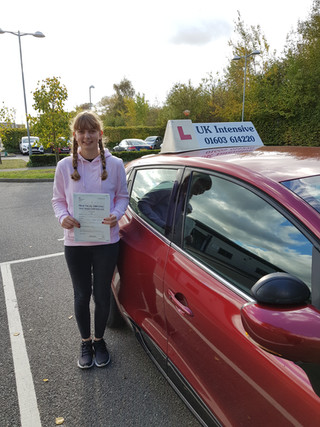 Well Done Sarah for passing.