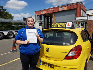 Elizebeth Hume passed first time!
