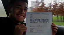 Ethan passes first time