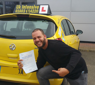 Tyler Grittith passes first time