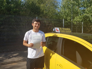 Tristan passed first time.