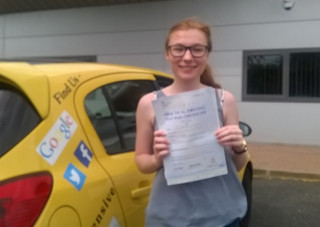 Amanda Hollinger passed 1st time with us.