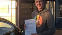 Max Clare passed first time