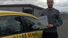 Liam Youngs passed 1st Time with 1 minor fault.