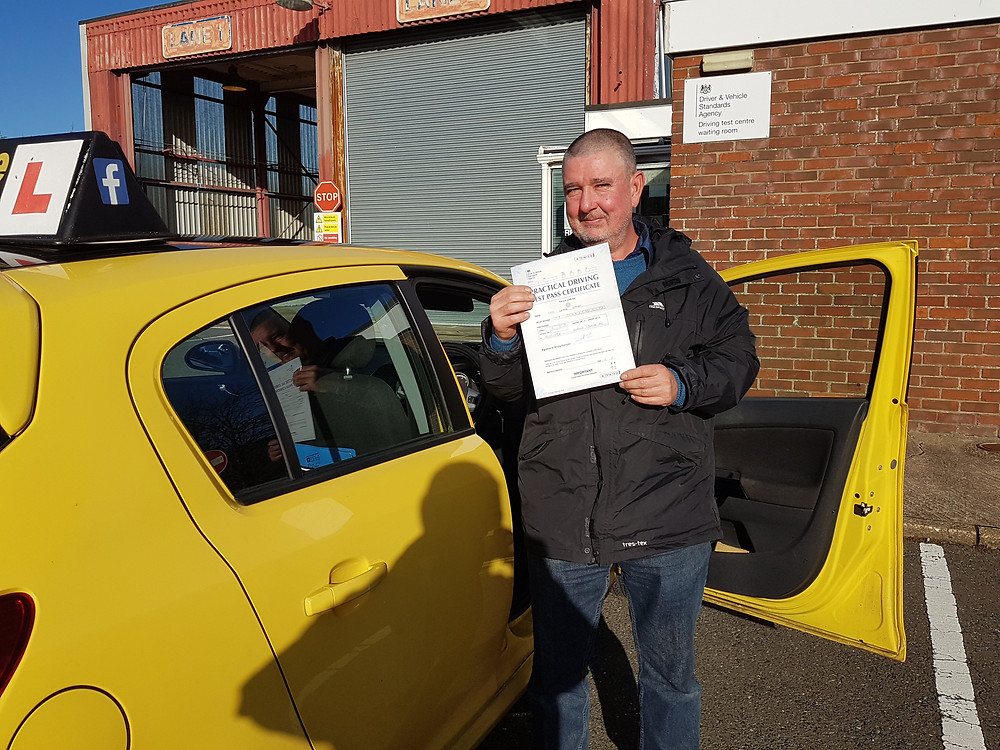 Carl passed 1st time Well Done
