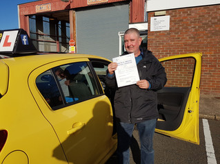 Carl passed 1st time Well Done.