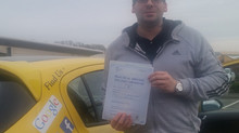 Peter Hughes passes with us first time