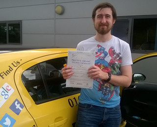 Christopher Vanderplank passed with just 4 minor faults.