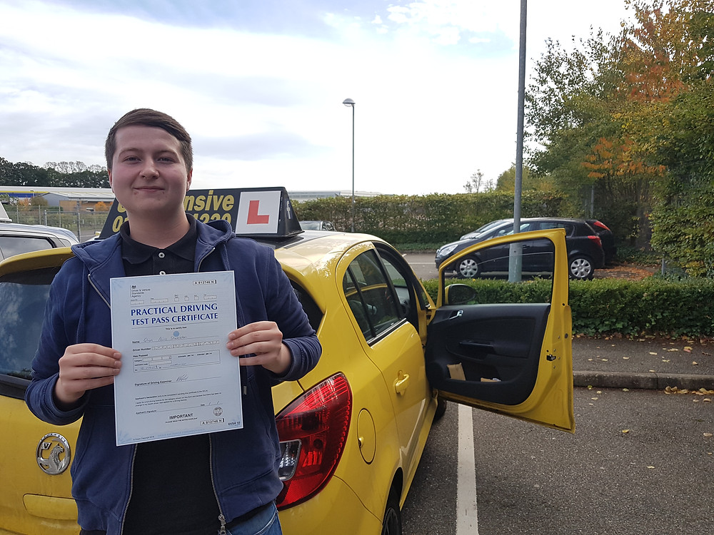 Well Done Glyn on passing your test.