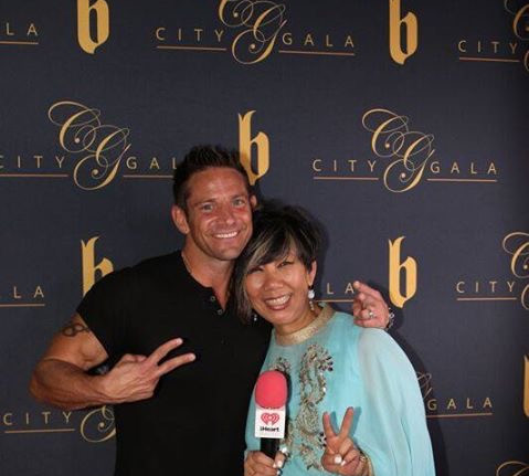 98 Degrees Jeff Timmons in studio with R