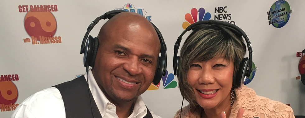 Ron Brown NFL in studio with Dr. Marissa